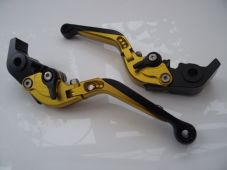 Ducati 1198/S/R (09-11), CNC levers fold/extend gold/black adjusters, F11/H11